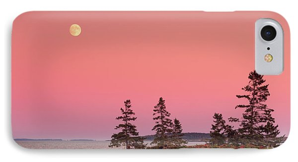 IPhone Case featuring the photograph Full Moon Over Maine  by Emmanuel Panagiotakis