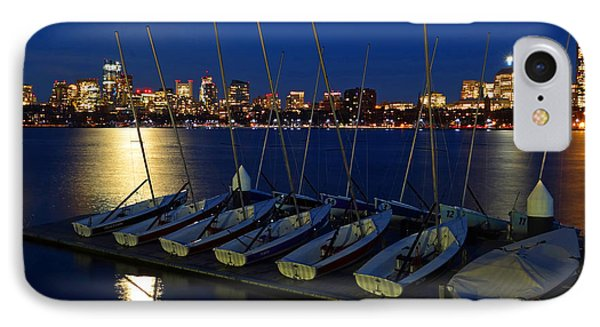 Full Moon Over The Charles River Boston Ma IPhone Case by Toby McGuire