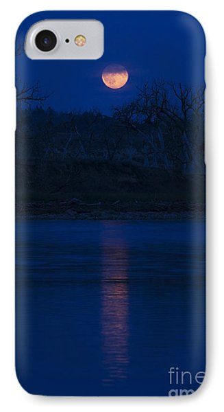 Full Moon Over The Tongue IPhone Case by Shevin Childers