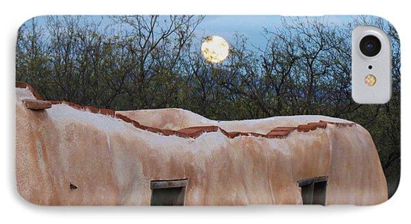 Full Moon Over Tumacacori IPhone Case by Feva Fotos