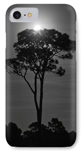 Full Moon Pearl  On Old Longleaf Pine Setting IPhone Case