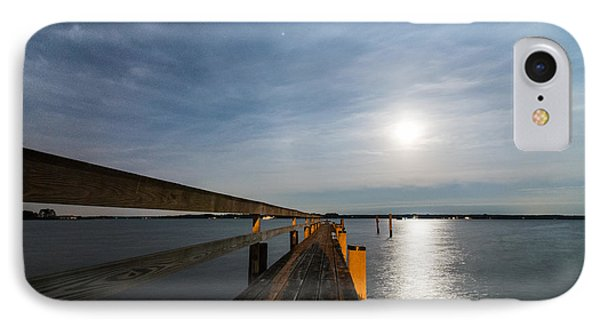 Full Moon Pier IPhone Case by Kristopher Schoenleber