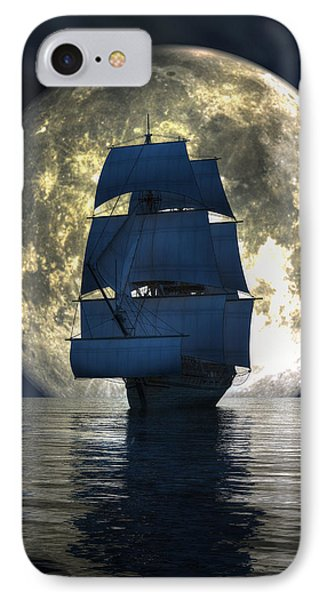 Full Moon Pirates IPhone Case by Daniel Eskridge