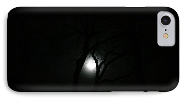 IPhone Case featuring the photograph Full Moon Through Trees by Marilyn Hunt