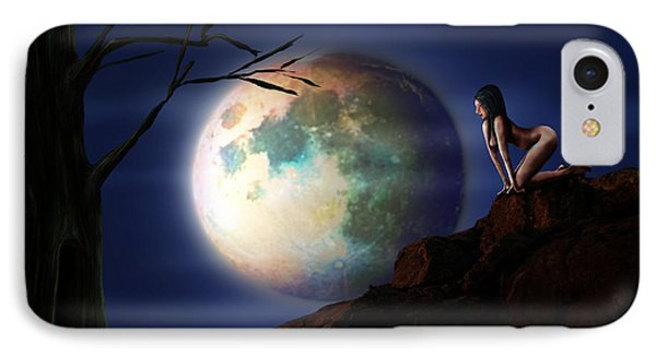 Full Moon Phone Case by Virginia Palomeque