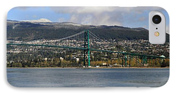 Full View Of The Lion's Gate Bridge Vancouver City  Phone Case by Pierre Leclerc Photography