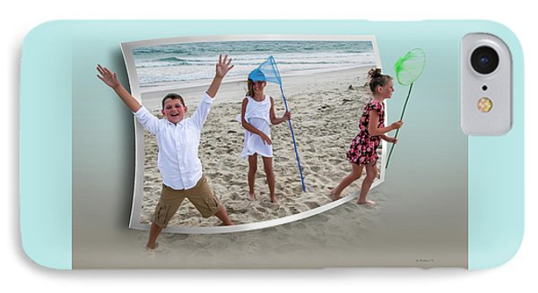 Fun At The Beach - Oof IPhone Case by Brian Wallace