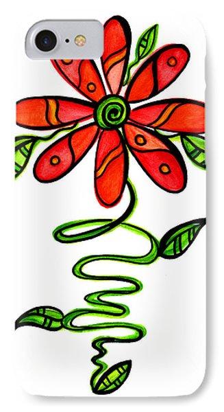 Fun Flower 3 IPhone Case by Sandi Fender