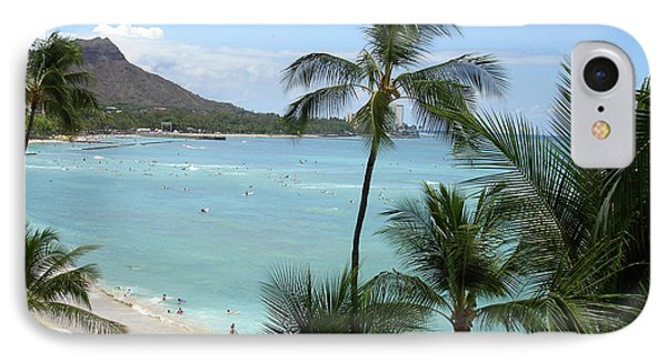 Fun Times On The Beach In Waikiki IPhone Case by Karen Nicholson