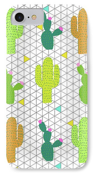 Funky Cactus IPhone Case by Nicole Wilson