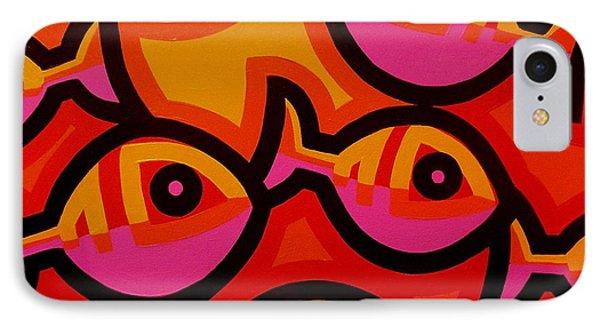 Funky Fish Iv IPhone Case by John  Nolan