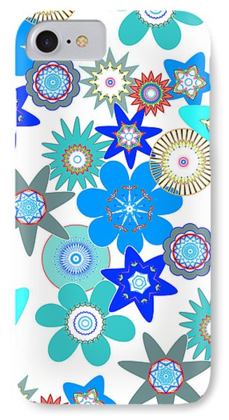 Funky Flower Pattern IPhone Case by Methune Hively