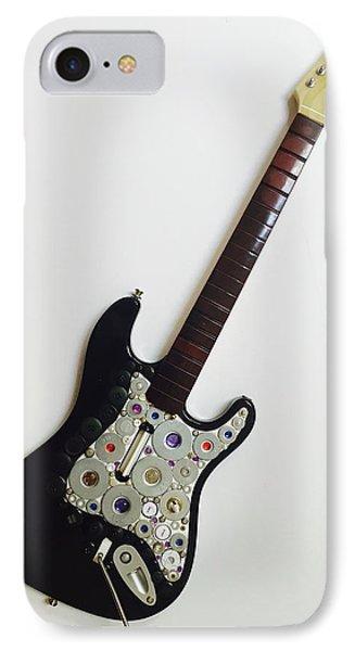 Funky Folk Art Guitar IPhone Case by Douglas Fromm