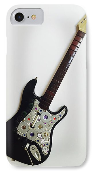 IPhone Case featuring the sculpture Funky Guitar by Douglas Fromm
