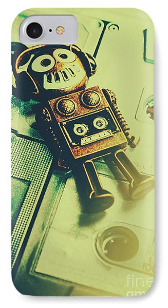 Funky Mixtape Robot IPhone Case by Jorgo Photography - Wall Art Gallery