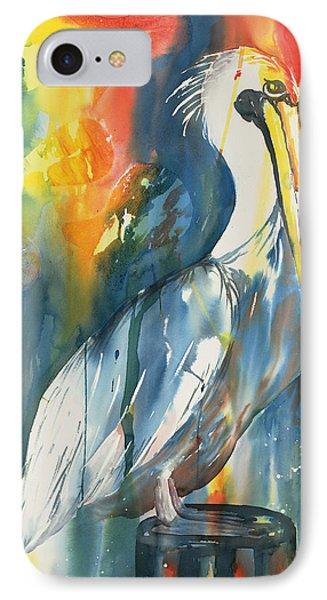 Funky Pelican IPhone Case by Tara Moorman