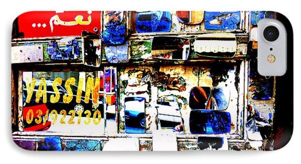 Funky Yassin Glass Shopfront In Beirut IPhone Case by Funkpix Photo Hunter