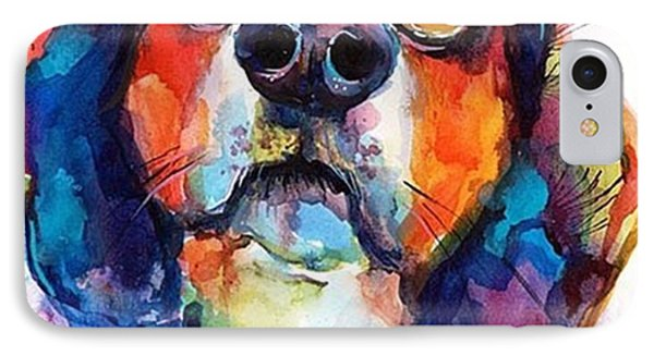 Funny Beagle Watercolor Portrait By IPhone Case