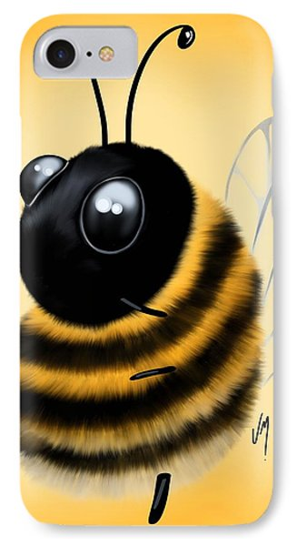 IPhone Case featuring the painting Funny Bee by Veronica Minozzi