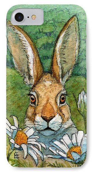 Funny Bunnies - With Chamomiles 889 IPhone Case
