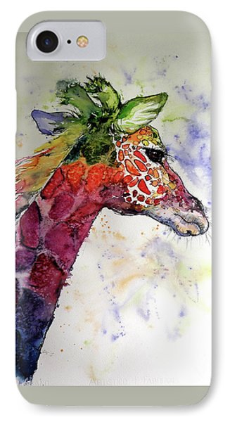 IPhone Case featuring the painting Funny Giraffe by Kovacs Anna Brigitta