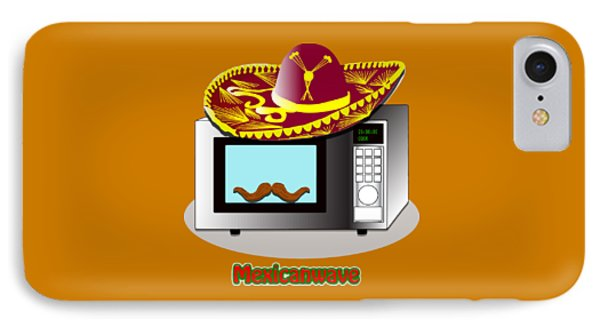 Funny Design Puns Mexican Wave Microwave IPhone Case
