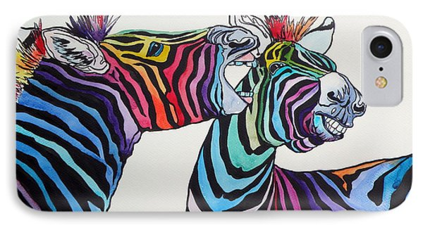 Funny Zebras IPhone Case by Kovacs Anna Brigitta