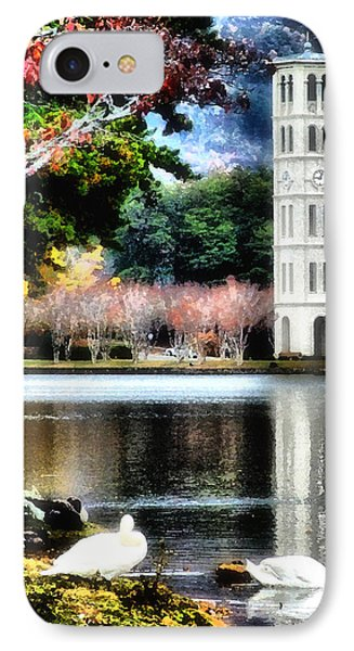 IPhone Case featuring the painting Furman University Bell Tower by Lynne Jenkins