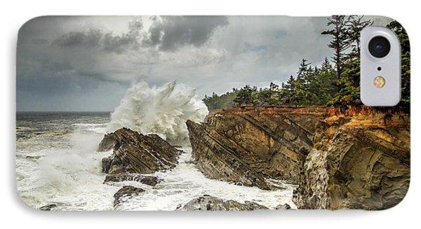 Fury On The Oregon Coast IPhone Case by James Eddy