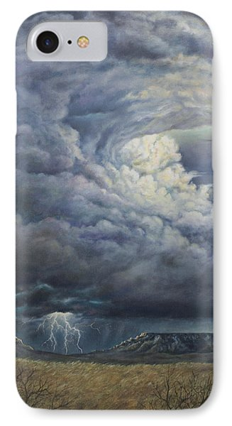 Fury Over Square Butte IPhone Case by Kim Lockman