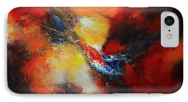 IPhone Case featuring the painting Fury by Patricia Lintner