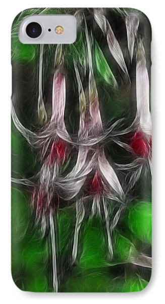 Fuschia 1 Fractal Phone Case by Lawrence Christopher