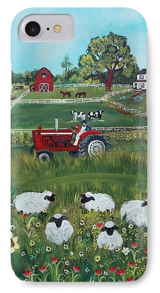 IPhone Case featuring the painting Future Farmer by Virginia Coyle