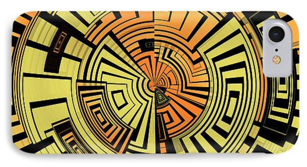 Futuristic Tech Abstract IPhone Case by Gaspar Avila