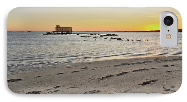 Fuzeta Beach Sunset Scenery And Landmark. Portugal IPhone Case by Angelo DeVal
