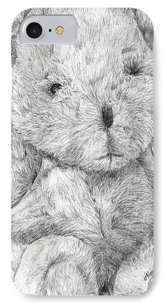 IPhone Case featuring the drawing Fuzzy Wuzzy Bear  by Vicki  Housel