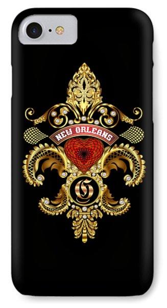 G-fleur-de-lis New Orleans Transparent Back Pick Color IPhone Case