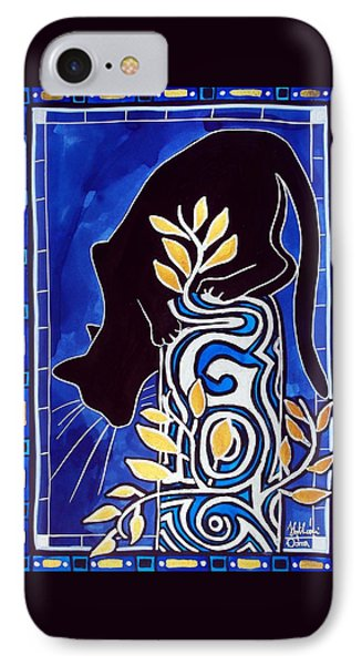 IPhone Case featuring the painting G Is For Gato - Cat Art With Letter G By Dora Hathazi Mendes by Dora Hathazi Mendes