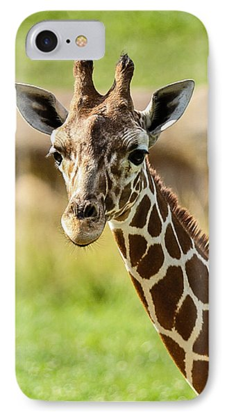 G Is For Giraffe Phone Case by John Haldane