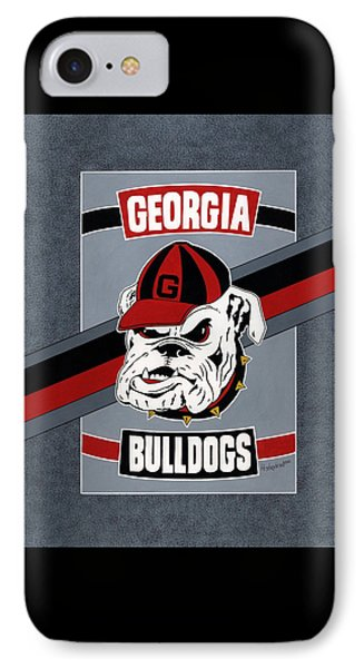 Bulldogs Poster T-shirt IPhone Case