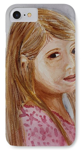 IPhone Case featuring the painting Gabriella by Donna Walsh