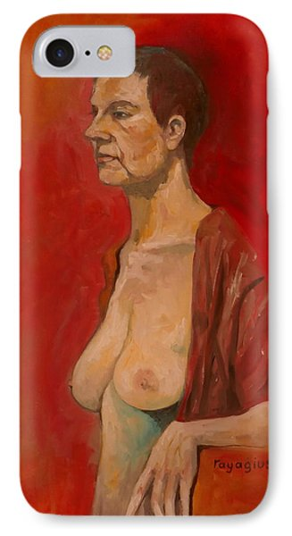 IPhone Case featuring the painting Gabrielle Standing by Ray Agius