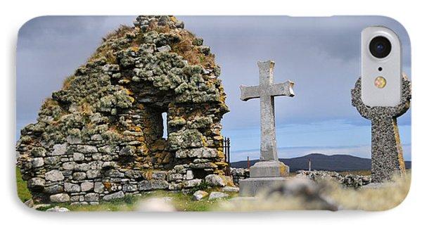 Gaelic Headstone IPhone Case by Nichola Denny