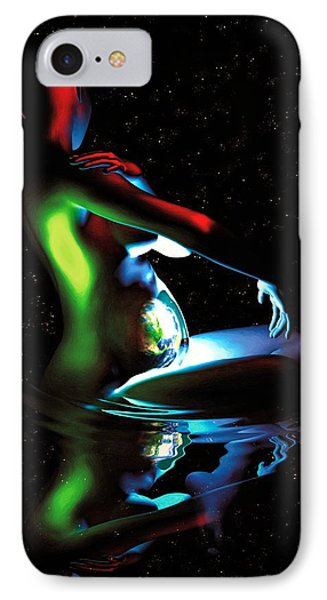 Gaia Bathing In A Pool Of Stars IPhone Case