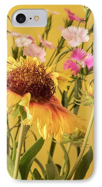 Gaillardia And Dianthus IPhone Case by Richard Rizzo