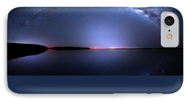 IPhone Case featuring the photograph Galactic Lake by Mark Andrew Thomas
