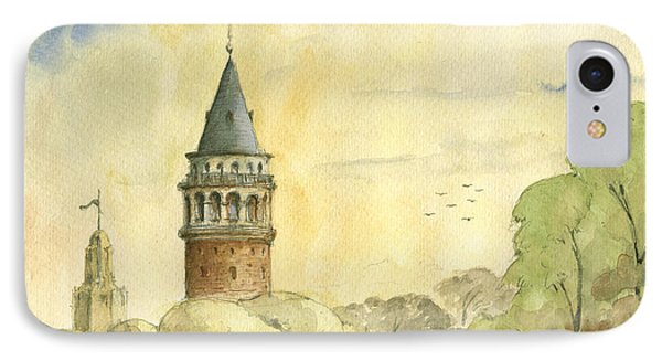 Galata Tower Istanbul IPhone Case by Juan Bosco