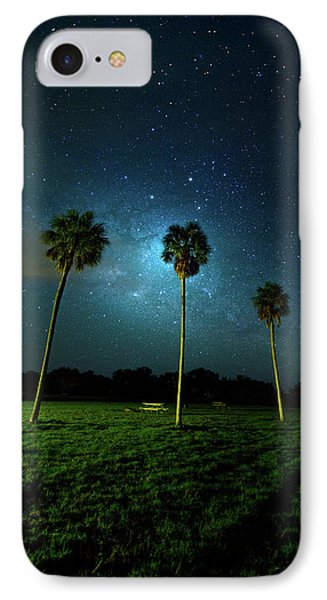 Galaxy Palms IPhone Case by Mark Andrew Thomas