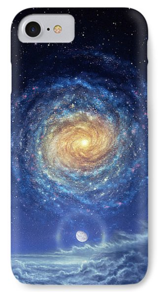Galaxy Rising Phone Case by Don Dixon