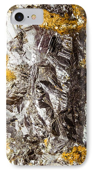 Galena Metallic Ore Closeup IPhone Case by Jorgo Photography - Wall Art Gallery
